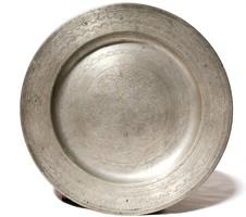 18.századi jelzett ón tányér