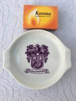 Alföldi porcelán - Hódmezővásárhely felirat és címer - Hamutál - Kis tál