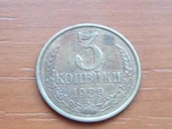 SZOVJETUNIÓ 3 KOPEJKI 1989