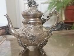Antik ezűst neorokkoko teás kancsó Bécs friedmann