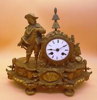 Különleges, barokk asztali óra
