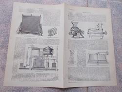 Litografie Meyers,1904, Gepek,Bierbrauerei