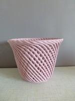 Ritka retro,vintage rózsaszín kaspó,Bodrogkeresztúri kaspó II.