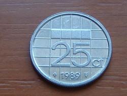HOLLAND 25 CENT 1989