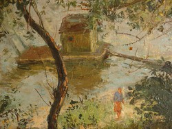 Csupor László (smallpest 1914- Bp.1990): In the waterfalls in the foliage oil !!!