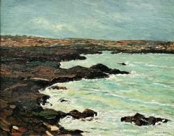 """Déry Béla (1870-1932 ) """" Sziklás tenger..!!"""