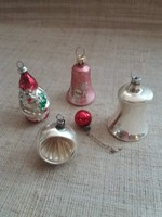 Régi  karácsonyfadísz egyben 5-darab