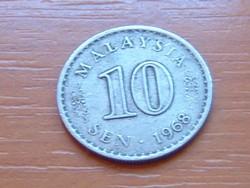 MALAYSIA MALAJZIA 10 SEN 1968