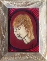 Egy szerelem.23x18 cm-es keretben miniatúra, pároknak való ajándék. Károlyfi Zsófia Prima díj