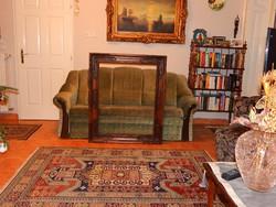 Szép és nagy méretű faragott keret (90 x 70cm-es képhez), hibátlan