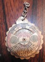 Réz Öröknaptár miniatúra -ritka, gyűjteményes darab