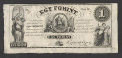 "1 forint 1852. ""D"".  RITKA!!  UNC!!"
