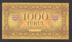 1000 Turul 2010. Sorszám nélküli!! Vízjeles!! Ritka!! Tökéletes UNC!!