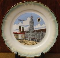 München porcelán dísztányér.