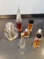 Régi kicsi kölnis, parfümös üvegek