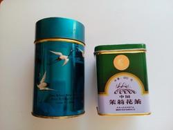 Régi teás fém doboz 2 db.
