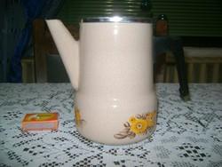 Zománcos teafőző, teakiöntő, teás kanna