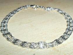 Görög mint 925 ezüst - fehérarany uniszex nyaklánc 42 cm