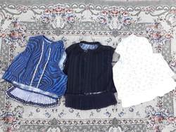 3 db pruszlik egyben - mellény - paraszti népi ruhák - múlt századi, házilag készített ruhák