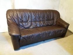 Retro 3 személyes bőr kanapé