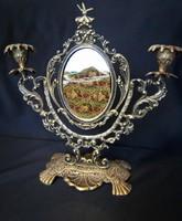 Barokkmintás Asztali Tükör