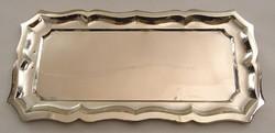 0U587 Régi 800-as ezüst tálca kínáló 383 g