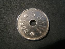 5 Bani  1906 verdehibás