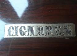 Lakkozott antik cigaretta, szivar kínáló fadoboz