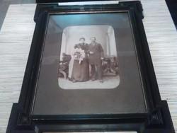 Antik esküvői fotó antik keretben