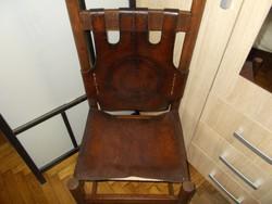 Iparművészeti bőr szék, 70-es évek