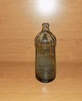 Antik feliratos füstszínű szódásüveg 0,7 literes Molnár Gábor Vécs