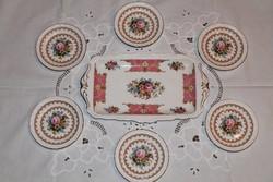 Angol Royal Albert Lady Carlyle desszertes készlet