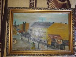 Olaj vászon festmény számomra ismeretlen festőtől eladó