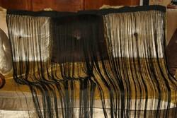 Fekete selyem rojt térelválasztó,vagy dekor függöny párba