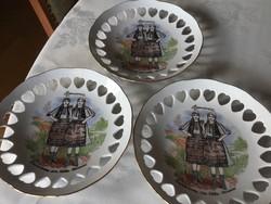 Apulum porcelán áttört tányér, 19 cm, 2200/db