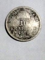 F. J. 10.krajcár.1872.kb.R.R.R.