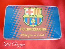 FC Barcelona fém uzsonnás, tároló