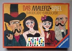 Régi retró német Das Malefiz Spiel családi társasjáték játék