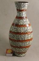 Gorka repesztett mázas nagy méretű váza 280
