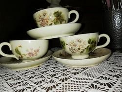 Antik Zsolnay családi pecsétes teás szettek