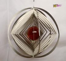 UNIVERZUM Modern Art Deco stílusú felfüggeszthető gömb stilizáció. Muránói üveggömbbel.