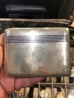Ezüst cigaretta tárca, 6 db, gyüjtői darabok a XX. század elejéről.