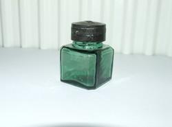 Régi zöld üveg tintatartó