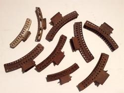 Retro Marcell-hullám készítő hajcsipesz régi fodrász kellék dekoráció 9 db
