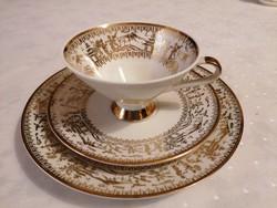 Lenyűgöző teás szett csészévek, aljjal és desszertes tányérral. Gyönyörűek!!