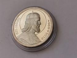 Szt István ezüst 5 pengő,gyönyörű verdefényes kapszulában,+++