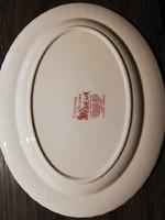 Johnson Bros Coaching scene angol porcelán ovális tányér (piros)