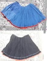 24 db ráncos szoknya - népviseleti - népi paraszti ruha csomag - 20. századi szoknyák
