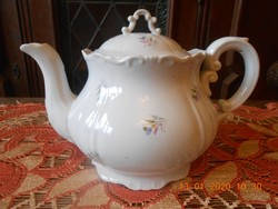 Zsolnay barokk tea kiöntő, teás kanna