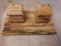 Antik márvány íróasztali tintatartó